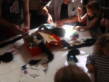 Recycled Art Workshop run by Roger Kattenhorn at Watford Library